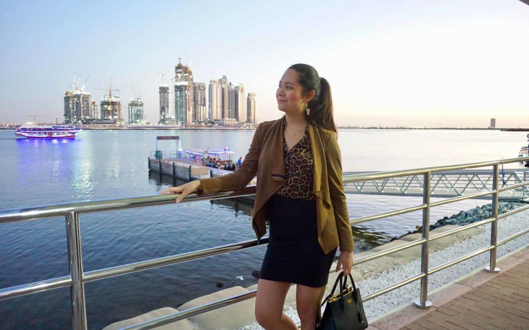 Malissa Menzel vor Skyline